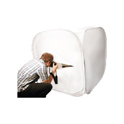 caixa dobrável flexível branco 120x120 cm