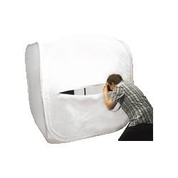 Acomodando caixa dobrável branco 150x150 cm