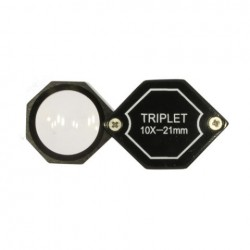 Jóias Magnifier Triplet 10x 20,5 mm