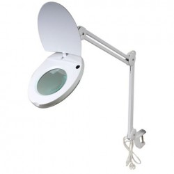 Byomic Mesa Magnifier com Clamb LED branco