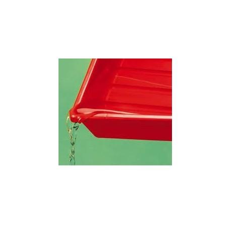 Kaiser laboratório prato 24x30 4168 vermelho/branco